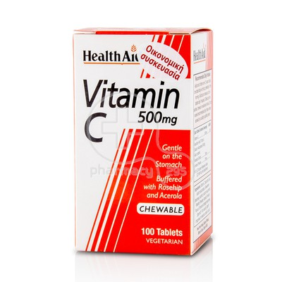 HEALTH AID - Vitamin C 500mg - 100chew.tabs
