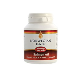 Norwegian Fish Oil Salmon Oil Omega 1,3,5,6,7,9 and 11 fatty acids 120capsules