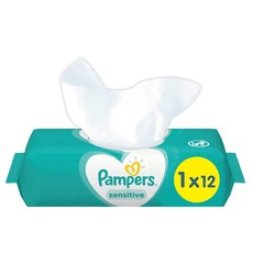 Pampers Wipes Sensitive Travel Μωρομάντηλα 12Τμχ.
