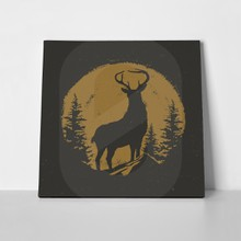 Deer wild vintage illustration 697673311 a