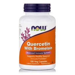 Now Quercetin 800 mg, w/ Bromelein, 120 vcaps