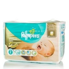 Pampers No.2 (3-6 kg) - New Baby Premium Care, 38τμχ.