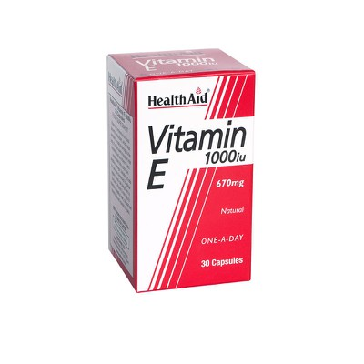 Health Aid - Vitamin E 1000iu - 30caps