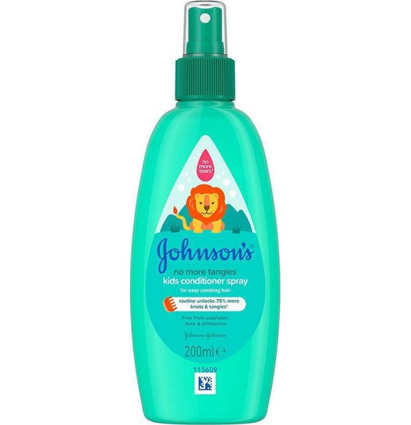 JOHNSONS KIDS NOMORE TANGLES CONDITIONER SPR. 200ML
