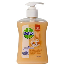 Dettol Liquid Antibacterial Hand Wash With Pump - Cotton Milk & Camomile 250ml