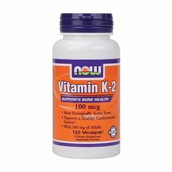 Now Foods Vitamin K2 100mg 100caps