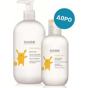 Babe laboratorios pediatric bath gel 500ml  extra mild shampoo 200ml