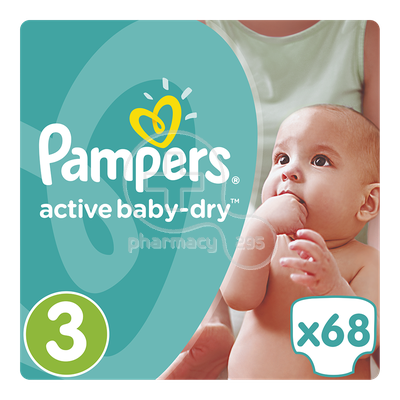 PAMPERS - Active Baby Dry No3 (5-9kg) - 68 πάνες