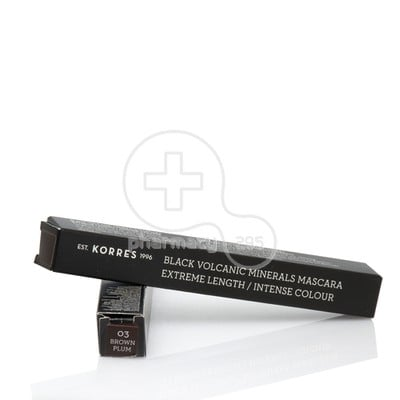 KORRES - BLACK VOLCANIC MINERALS Mascara Extreme Length Intense Colour Brown-Plum 03 - 7.5ml