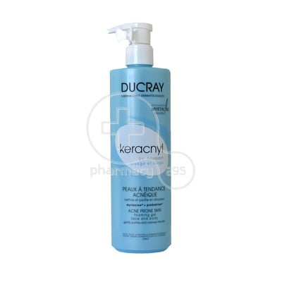 DUCRAY - KERACNYL Gel Moussant Face & Body (Νέα Σύνθεση) - 400ml