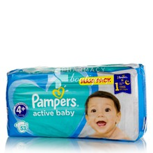 Pampers No.4+ (10-15kg) - Active Baby Maxi Pack, 53τμχ