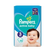 Pampers Active Baby No3 6-10Kg  20Τμχ.