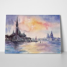 Venice italy sunset picture watercolors 139741237 a