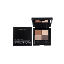 Korres The Bare Nudes Black Volcanic Minerals Eyeshadow Quad Παλέτα Σκιών Για Τα Μάτια 5g