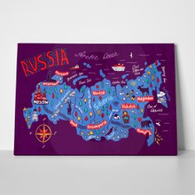Cartoon map russia 466682990 a