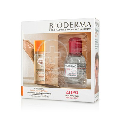 BIODERMA - PROMO PACK PHOTODERM Nude Touch SPF50+ (Clair) - 40ml & ΔΩΡΟ SENSIBIO H2O Solution Micellaire (100ml)