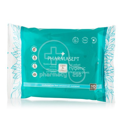 PHARMASEPT - TOL VELVET Hygienic Cleansing Gloves - 10τμχ.