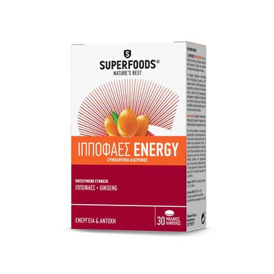 SuperFoods - Ιπποφαές Energy - 30 caps
