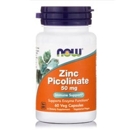 Now Zinc Picolinate 50 mg, 60 caps