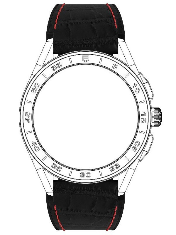 Connected Black Rubber Strap