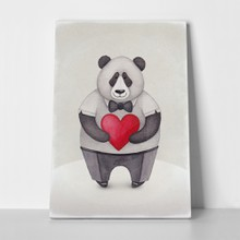 Illustration panda heart 244533229 a