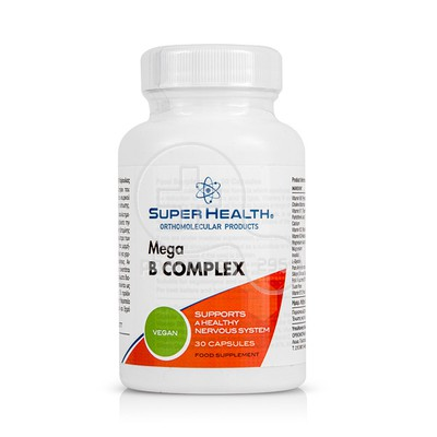 SUPER HEALTH - Mega B Complex - 30caps