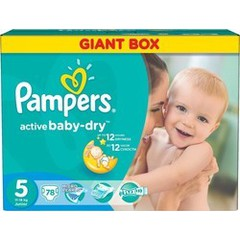 Pampers Active Baby Dry No 5 (11-18Kg) 78 τμχ