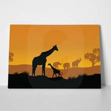 African wildlife sunset 2 a
