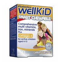 VITABIOTICS WELLKID 30 CHEWABLE TABS FRUIT FLAVOUR 4-12YEARS