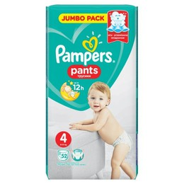 Pampers Pants Jumbo Pack No4 (9-15kg) 52τμχ