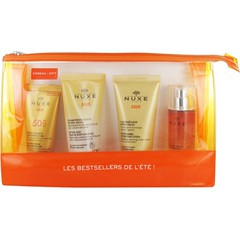 Nuxe Sun Travel Set: Sun Melting Cream SPF50, 30ml + After Sun Shampoo, 50ml + After Sun Lotion, 50ml + Delicious Fragrant Water, 30ml