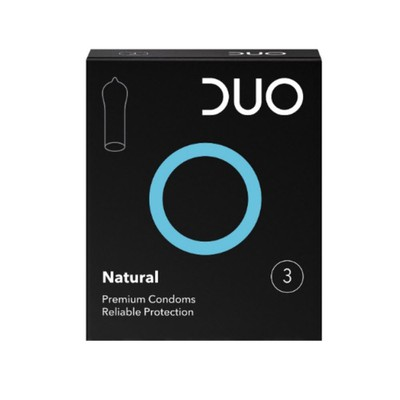 DUO - Natural - Προφυλακτικά Κανονικά - 3τμχ