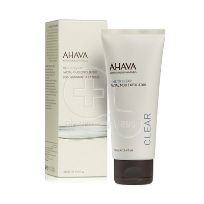 AHAVA - TIME TO CLEAR Facial Mud Exfoliator - 100ml