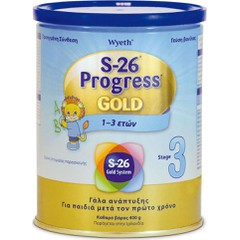 Wyeth Γάλα S-26 Progress Gold 3 400gr
