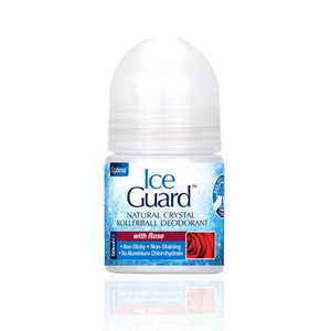 ICE GUARD Natural crystal with rose deodorant roll on 50ml