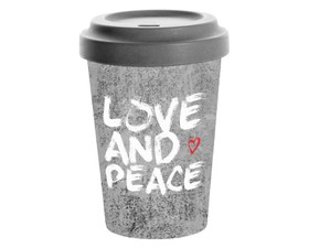 Paperproducts Κούπα Ταξιδίου Bamboo Love and Peace 0,4lt