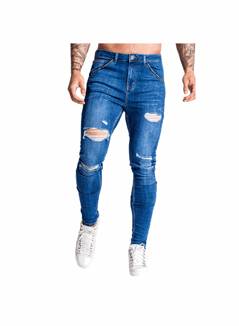Gianni Kavanagh Medium Blue Rupture Jeans