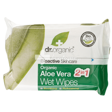 Dr.Organic Aloe Vera WET WIPES - Μαντηλάκια, 20τμχ.