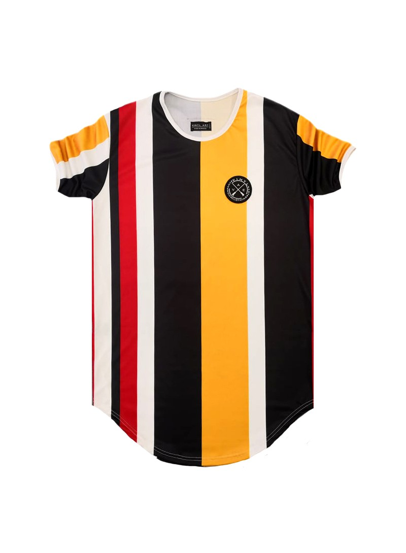 VINYL ART CLOTHING BOLD STRIPE T-SHIRT