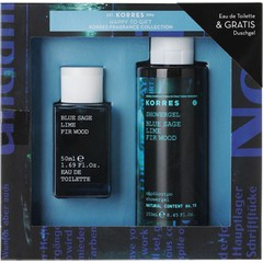 Korres Fragrance Collection - Eau De Toilette Blue Sage, Lime & Fir Wood - Ανδρικό Άρωμα, 50ml + Δώρο Αφρόλουτρο 250ml