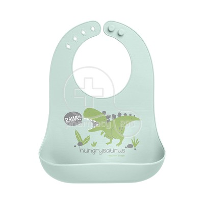 STEPHEN JOSEPH - SAFE AND SOUND Silicone Baby Bib 0m+ (Dino)