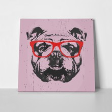 Portrait english bulldog glasses hand drawn 551276149 a