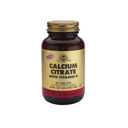 Solgar Calcium Citrate With Vitamin D3 250mg 60tablets