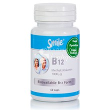 Smile Vitamin B12 1000μg (Methylcobalamin), 60caps