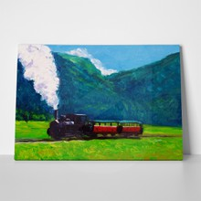 Train oil painting 48433420 a