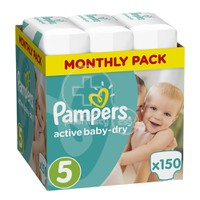 PAMPERS - MONTHLY PACK Active Baby Dry No5 (11-18kg) - 150 πάνες