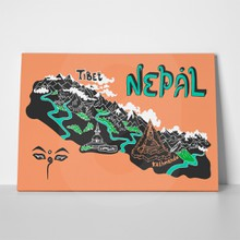 Illustrated map nepal 388395154 a