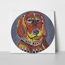 Brightly colored dachshund 112691932 a