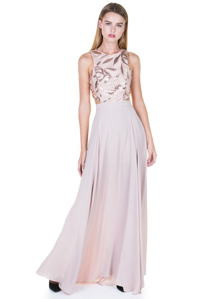 Maxi φόρεμα με ανοίγματα και λάμψεις b05c68e75cb