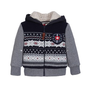 Lapin Boys Hooded Zip-Up Cardigan